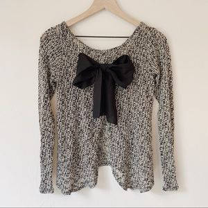 Sweaters - Open Back Bow Sweater